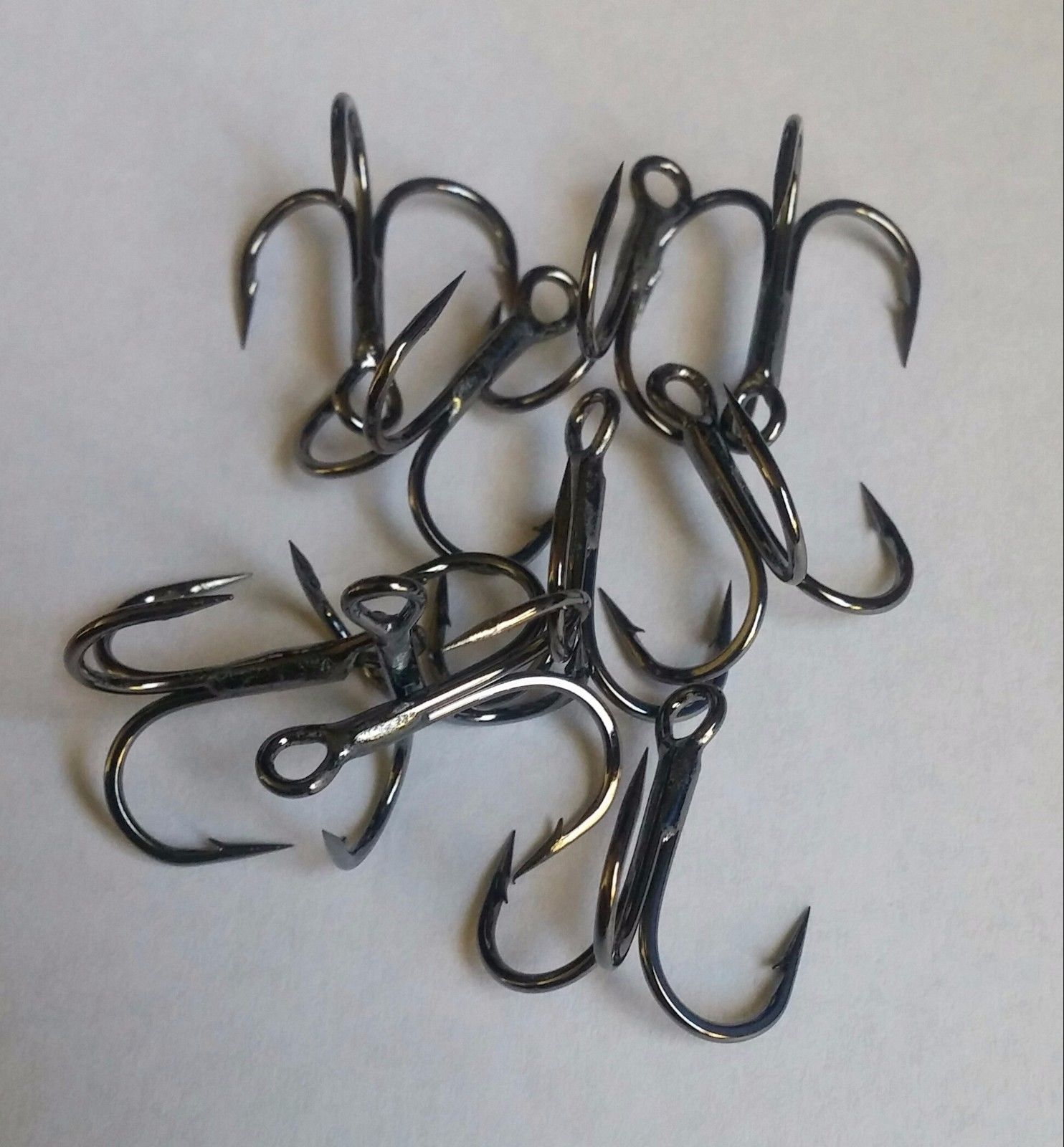 tackle - treble hooks sz 6 4 2 replacement for best squarebill crankbait popper shad blue gill bream