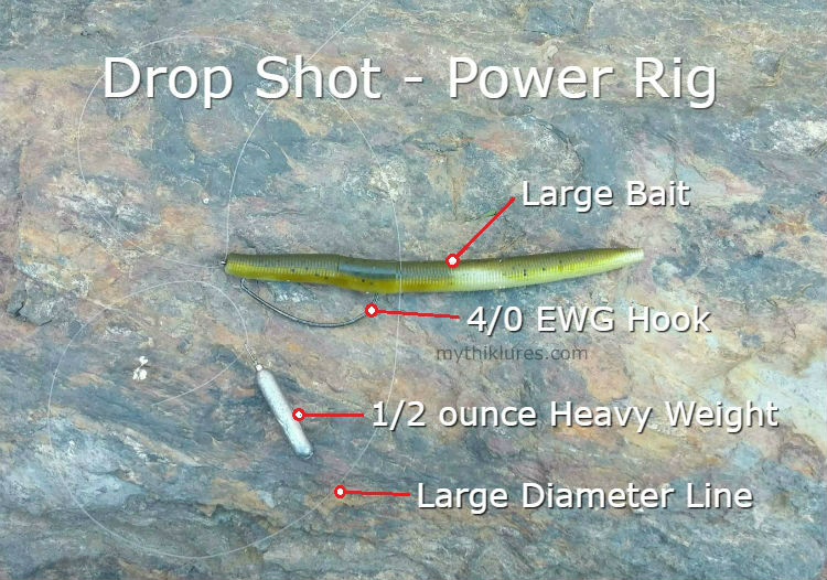 drop shot worm power shot deep water