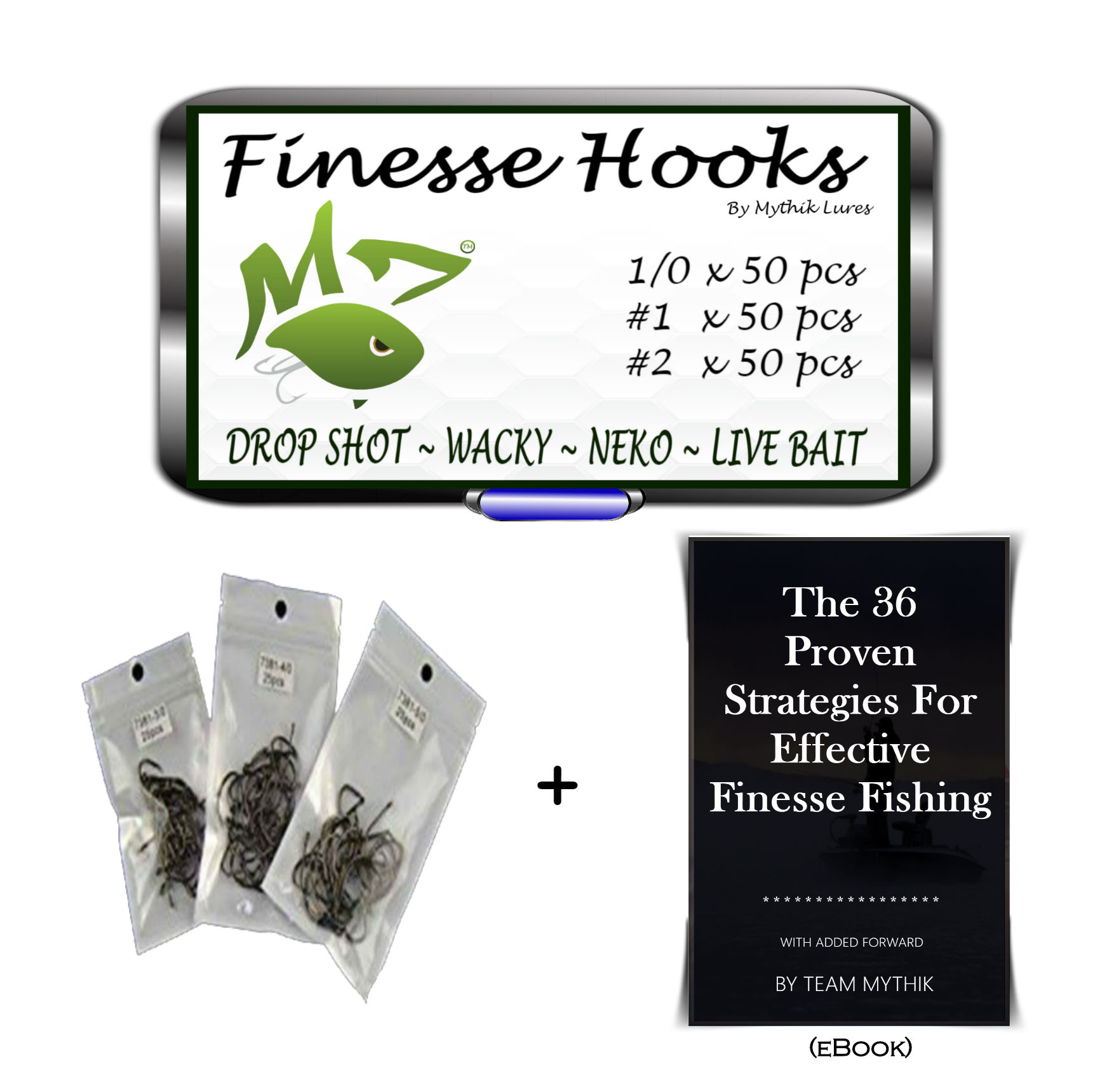 Finesse drop shot wacky neko hooks